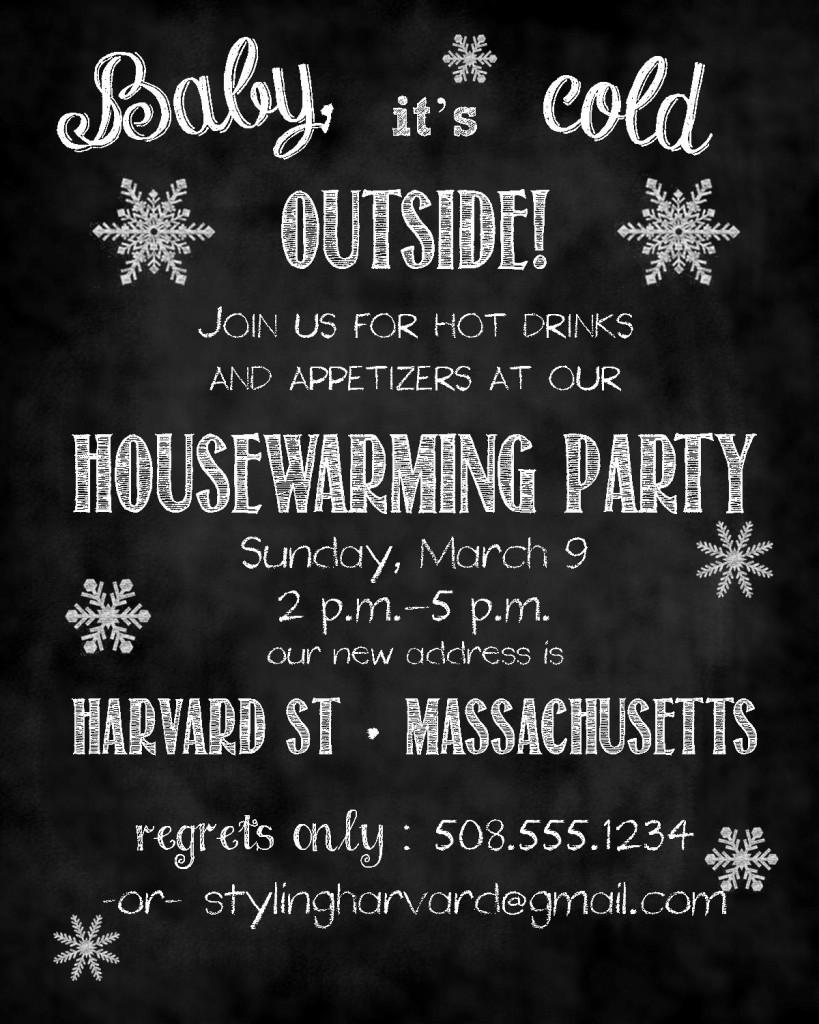Styling Harvard Housewarming