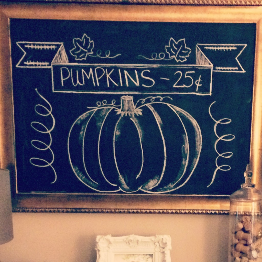 Styling Harvard Fall chalkboard