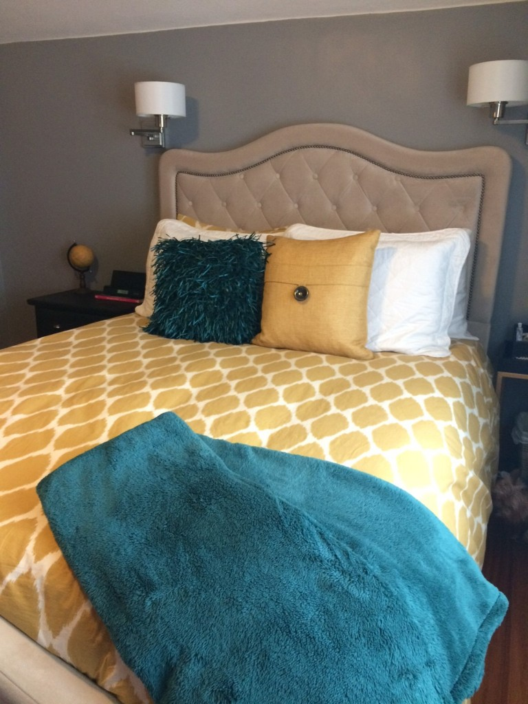 Styling Harvard budget bedroom makeover