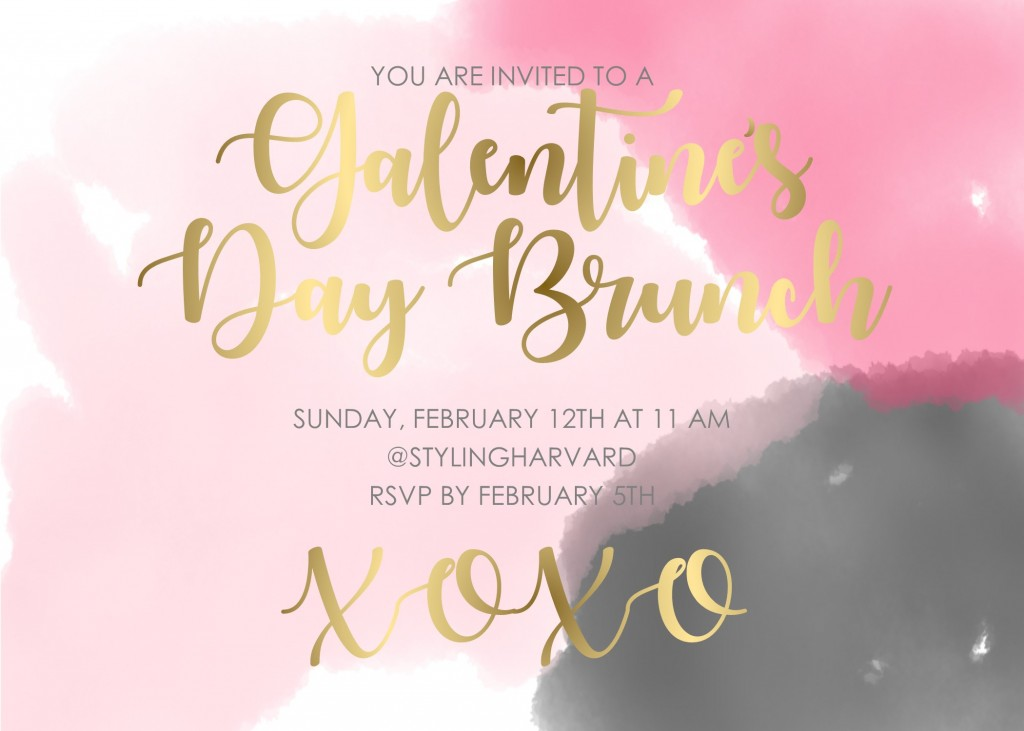 Styling Harvard | Galentine's Day invitation